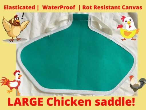 Extra Large Elasticated Chicken Saddle Apron Cape Hen Feather Protector Wings Poultry Bantams XL orpington WaterProof Rot Resistant Henchen